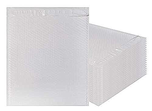 Amiff Luftpolsterversandtaschen, 14,75 x 20 cm, Weiß Poly Kissenumschläge, groß, 10 Stück Außengröße 15x20 (15x20). Haftklebung. Versand Versand Versand Verpackung -