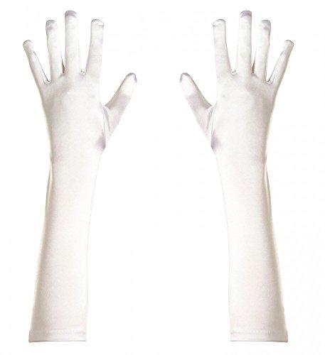 Elegante Satin-Abendhandschuhe lang glänzend Damen-Handschuhe Kostümzubehör Karneval Oper -