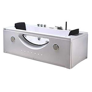 Bañera hidromasaje Model Harmony 180 x 90 cm Bañera de esquina spa hidromasaje Piscina – Terapia luz de colores Para 2 nueva
