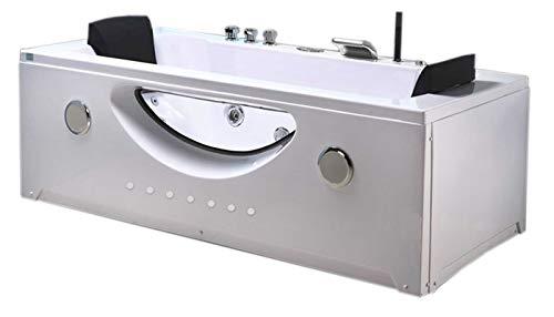 Vasca bagno idromassaggio cromoterapia 2 persone nuova whirlpool - bath tub vasca idromassaggio interno 2 persone nuova 180 x 90 cm