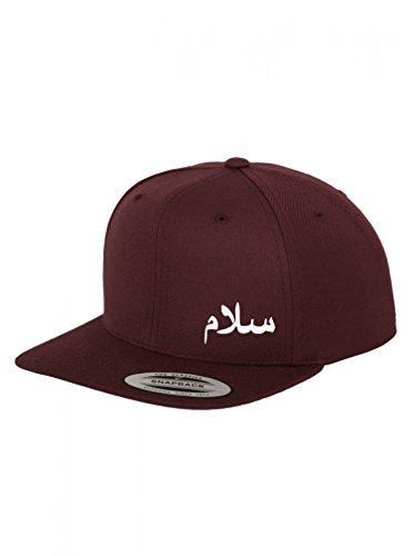 SALAM, Frieden Peace Kinder Snapback Cap, Kinder Hip Hopper Cap  Arabische  Bestickung auf original Flexfit Cap Original Flat Peak Hip Hop Rapper Cap 7147aa48fa