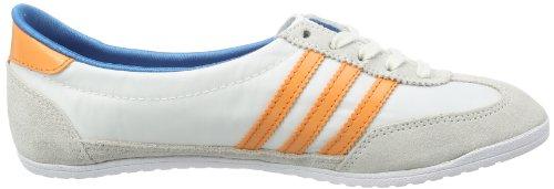 adidas Originals  SL72 BALLERINA W, Peu femme Blanc - Weiß (WHITE VAPOUR S11 / ST TROPIC MELON S14 / DARK SOLAR BLUE S14)
