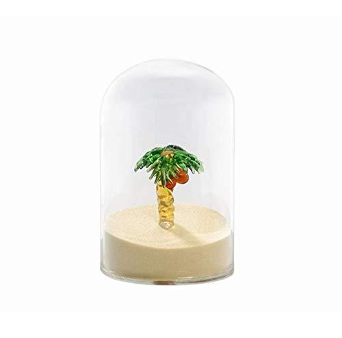 Briefbeschwerer und Büro-Dekoration für den Schreibtisch, hübsches Urlaubs-Accessoire mit Palme und Sand für Urlaubsgefühl im Büro von notrash2003 -