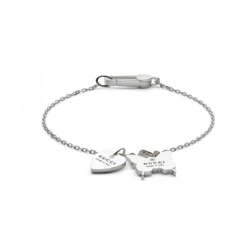 Gucci Damen-Armband Herz und Schmetterling 925 Sterling silber Gr.19 YBA22351600119