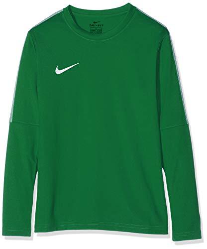 Nike Kids' Dry Park18 Football Crew Top Long Sleeved t-Shirt, Unisex niños, Verde Pine Green/White/302...