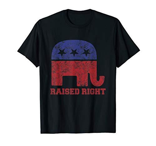 Klassische Republikanische Elefant (Rechts angehoben! Republikanisches Elefant-Vintages Logo T-Shirt)
