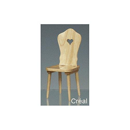 Preisvergleich Produktbild Creal 30820 Miniatur Küchenstuhl Stuhl natur Holz 1:12 für Puppenhaus