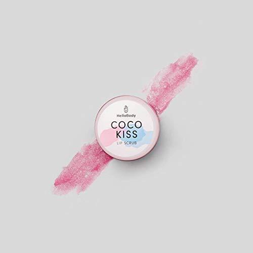 HelloBody Coco Kiss Lip Scrub (15ml) - Lippenbalsam - Natürliche Lippenpflege für zarte und gesunde Lippen - mit Bienenwachs, Kokosöl und pflegender Sheabutter (Lip Scrub Kiss)