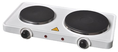 7 X Fine Elements Electrical Double Hot Plate, 2500 Watt, White
