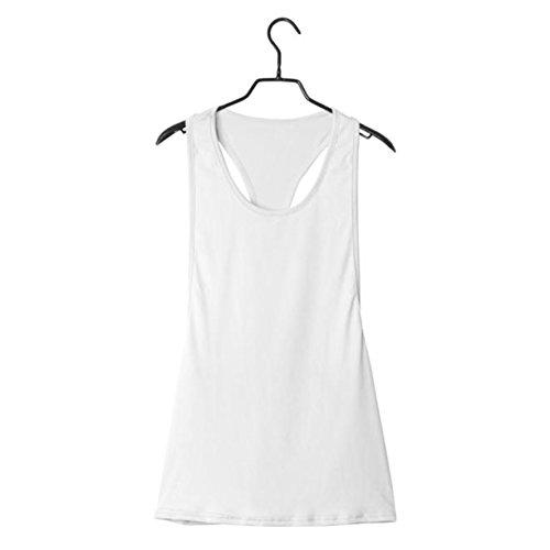 Femmes Sport Vest, Reaso Summer Sexy lâche Gym Run Training Blanc