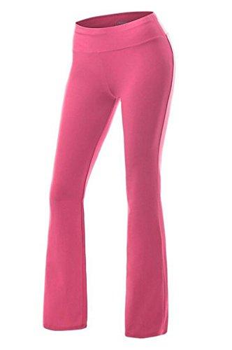 Smile YKK Pantalon de Sport Femme Pantalons Longues Yoga Gym Jogging Sport Casual Confortable Rose