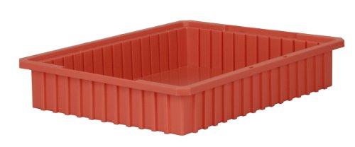 akro-mils 3322422–3/8-inchl von 17–3/8W von 4-Zoll-H akro-grid Schlitz Trennwand Kunststoff Box, transparent, 6er Pack, 33224RED