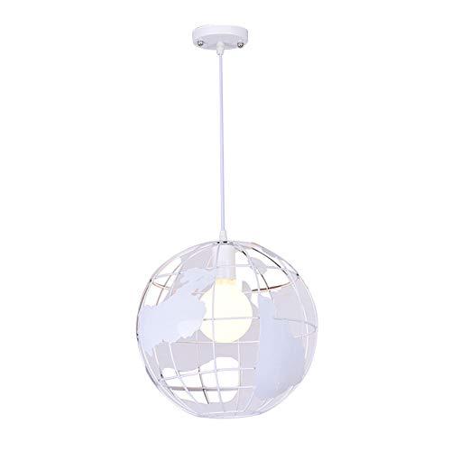 Vintage LED Pendelleuchte Hängeleuchte im Globus Design,Φ 30cm für E27 Leuchtmittel, für Wohnzimmer Esszimmer Restaurant Keller Untergeschoss usw