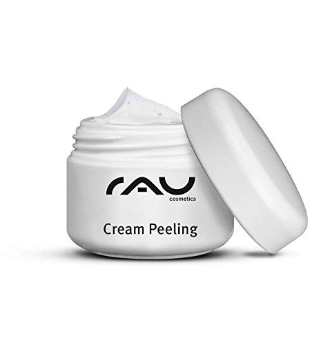 RAU Cream Peeling 5 ml - Gommage visage, crème peeling avec des particules abrasives naturelles. Exfoliant visage nettoyant doux très efficace. Gommage visage mécanique pour un nettoyage en profondeur. - Taille Voyage Mini