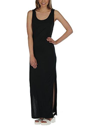 Bench Damen Schlauch Kleid ACTINGOUT, Maxi, Gr. 34 (Herstellergröße: XS), Schwarz (Jet Black BK014)