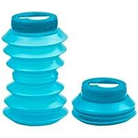Ohyo 500ml la botella de agua plegable (azul)