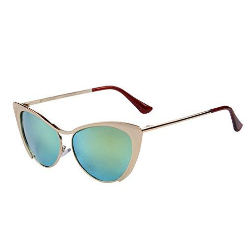 Zxyan œil de chat Patry/Lady/Anti-ultraviolet/lunettes de soleil Demi Cadre de couleur vive, C02