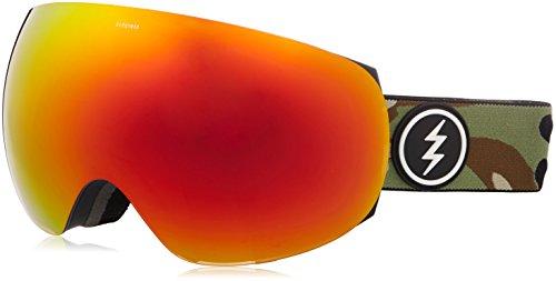 Electric Unisex- Erwachsene EG3 Snowboardbrille, Oliv braun rot, One Size