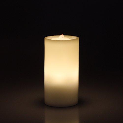 Vela de Bailando Agua Sin Llama y Fuente de Interior, Luz LED, Decoración Sobresaliente, Cera Real, Blanco de Marfil