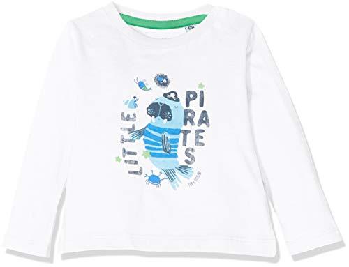 -Jungen T-Shirt Placed Print Langarmshirt, Weiß (Bright White 1000), Herstellergröße: 86 ()