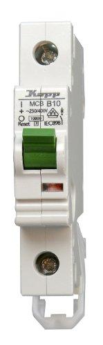 Ge Electric Circuit Breaker (Kopp 721000006 Green Electric Leitungsschutzschalter (MCB) 1-polig, 10 A)