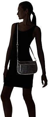 Desigual BOLS_MUMBAI Fridyay, Sacs Bandoulière Femme, Noir (2000), 8x16x16 cm