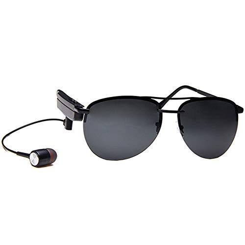 KASIQIWA Intelligente Bluetooth-Sonnenbrille, veränderbare HD TAC-polarisierte Brille mit Kopfhörer HiFi-Klangqualität Bluetooth-Verbindung für Reisen,Gray