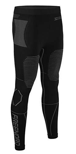 Freenord THERMOTECH Unisex Funktionswäsche Thermoaktiv Atmungsaktiv Base Layer Hose (Schwarz, S)