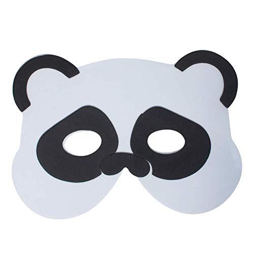Werbewas 1x Schaumstoff Masken mit Panda Tiermotiv - als Karnevals, Halloween, Geburtstags-Party Kostüm