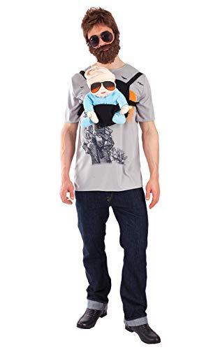 Hangover Alan Junggesellenabschied Kostüm Karneval Fasching Verkleidung Herren Extra - Ernie Kostüm Shirt