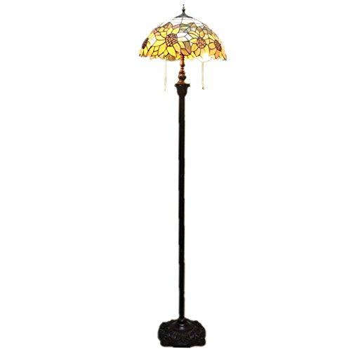 Yool Tiffany Style Stehlampe Home Dekoration Farbe Glas Sunflower Stehleuchte Schlafzimmer, Wohnzimmer, Esszimmer.