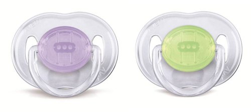 Philips Avent SCF170/18 - Chupetes (2 unidades, 0-6 meses), surtido: colores aleatorios