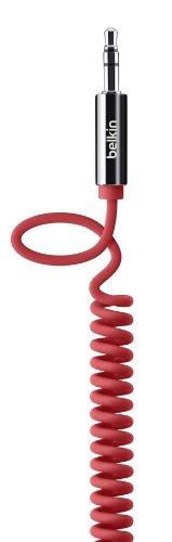 Belkin MixIt Audio-Spiralkabel (3,5mm auf 3,5mm Klinkenanschluss, 1,8m) rot -