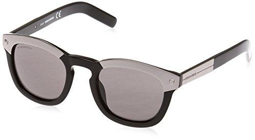 Dsquared dq0248 49-011 01a, occhiali da sole unisex-adulto, nero (schwarz), 42