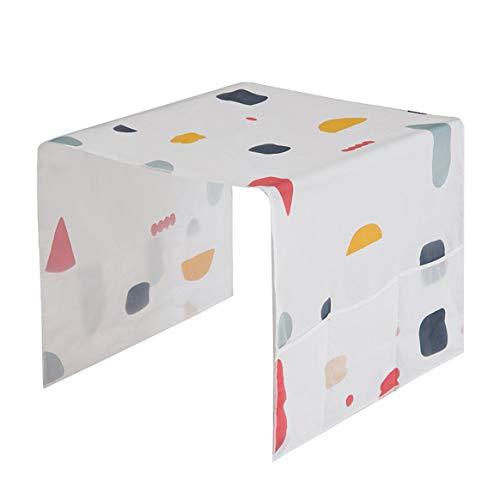 Delicacydex INNERNEED Geometry Printing Kühlschrank Staubdichte Abdeckung und Wasserdichte Haushalts Schutzbeutel Reinigungswerkzeug - Weiß