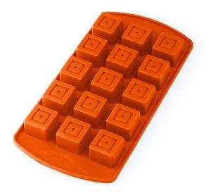baekka Pralinenform Eiswürfelform Würfel 15er Form, orange