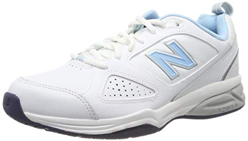 New Balance, Damen Laufschuhe, Weiß (White/blue), 41 EU (7.5 UK)