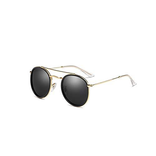 Sportbrillen, Angeln Golfbrille,Brand Designer Polarisiert Sunglasses Women Men Sunglasses Metal Round Frame Mirror Lens Goggles Oculos De Sol UV400 AI32 P5Gray