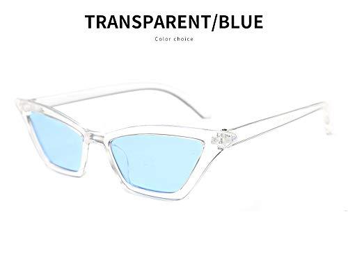 YBZS Kleine Brillen, transparente Sonnenbrillen - schützen Sie Ihre Augen vor UV-Strahlen, Wind und Insekten - Reisen im Freien, Gehen auf der Straße, Radfahren, transparentframebluepiece