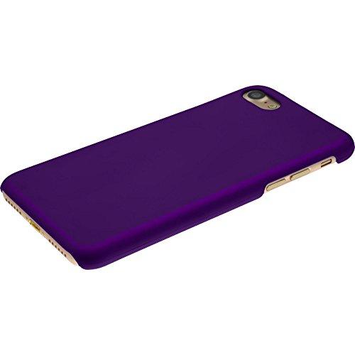 PhoneNatic Case für Apple iPhone 7 Hülle rot gummiert Hard-case für iPhone 7 + 2 Schutzfolien Lila
