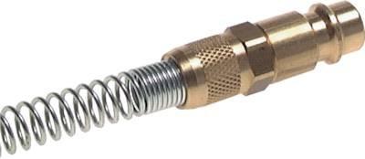 Kupplungsstecker (NW7,2) 10 x 8mm Schlauch m. Knickschutz Werkstoff:Stahl gehärtet & verzinkt (Schlauch Verzinkter)
