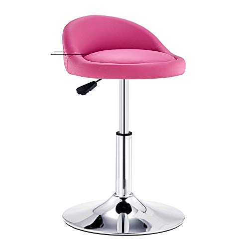 rehbar Barhocker Einstellbare Barhocker mit Rücken Hydraulische Barhocker Küche Und Home Barhocker for Restaurant Café (Keine Fußstütze) (Color : Pink) ()