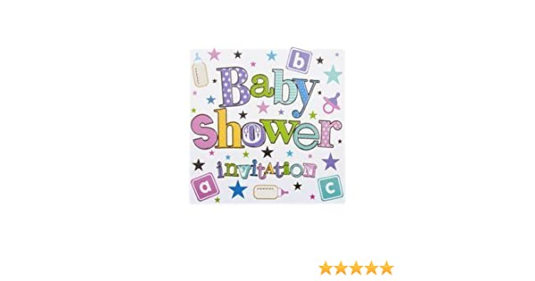 PACK OF 6 BABY SHOWER INVITATIONS AND ENVELOPES DP294P