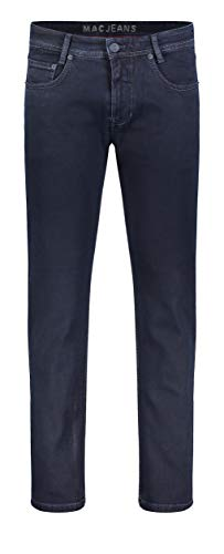 MAC JEANS Herren Arne Straight Jeans, Blau (Blue Black H799), W36/L32 (Herstellergröße: 36/32)