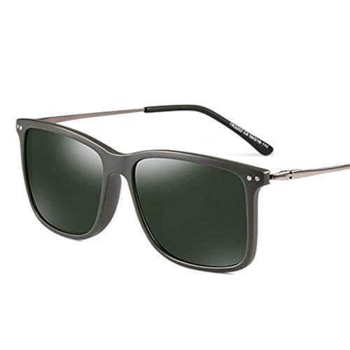 SUNGLASSES Sonnenbrillen Mann, herumfahren Brille Wrap Wayfarer Harz Mens Day Night polarisierte Sonnenbrille für Männer (Color : C)