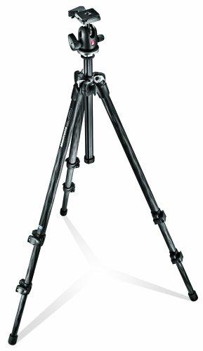 Manfrotto MK294C3-A0RC2 Digital/film cameras Black tripod - Tripods (Digital/film cameras, 5 kg, 3 leg(s), 179 cm, Black, 2.53 cm)