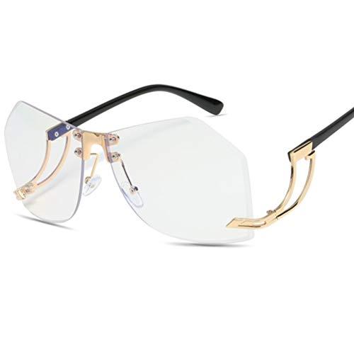 WYJW Männliche und weibliche Modelle unregelmäßige Sonnenbrille Metallnieten Mode HD Sonnenbrille