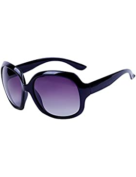 QIXU Gafas de Sol Polarizadas Mujer Oversized Protección UV400 Grandes de Marca y Caso