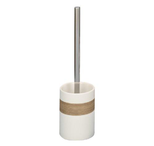 Zeller 18261 - Escobilla para baño con soporte de cerámica (9,5 x 35), color beige y marrón