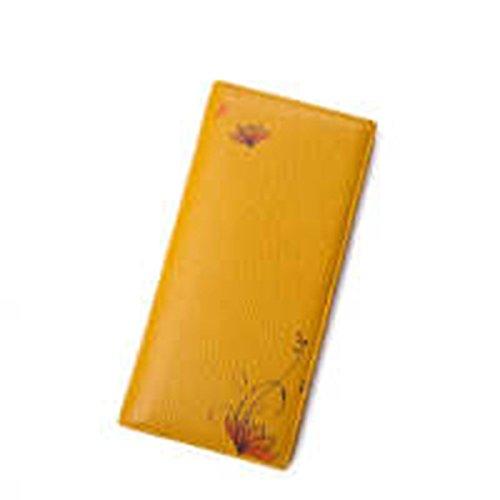 WU Zhi Lady In Pelle Fermasoldi Portafogli Yellow